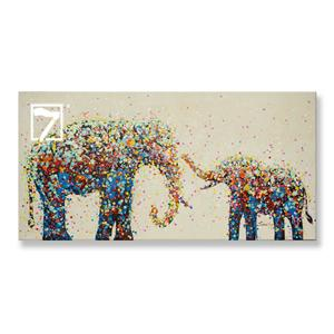 Stretched Wildlife Elephant Painting