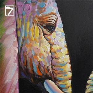 2 stykker Elephant Painting Art