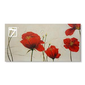 Red Poppy Flower Canvas Maleri