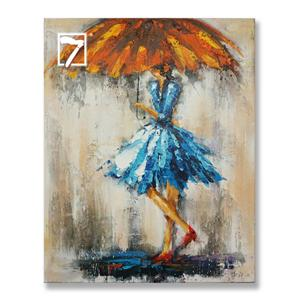 Girl with UmbrellaHandmade Oil Painting