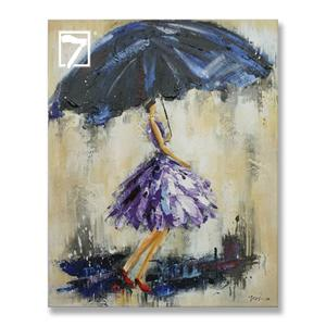 Girl with UmbrellaFramed Wall Art
