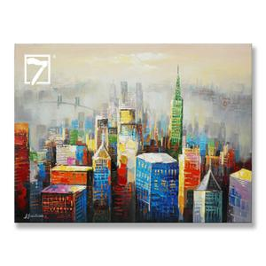 City Scape Stretched Canvas Art