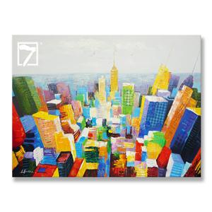 Commercial Painting City Birdview on Canvas