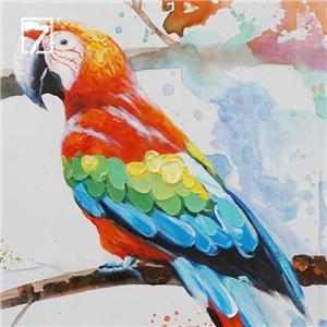 ألوان مائية الببغاوات ديكور جدار الفن