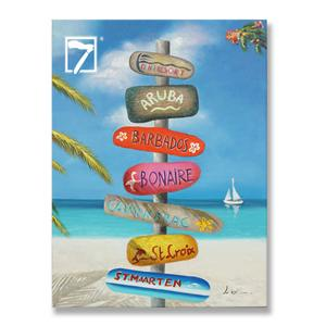 wholesale painting Hawaii Beach Road Sign