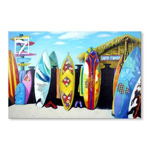Miami Beach Surfboard Wall Art