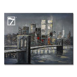 Brooklyn Bridge Architecture Landscape Painting