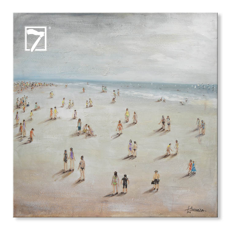 7فنون الحائط 3 شاطئ قماش الفن