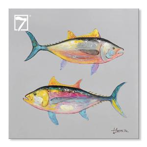 Handpainted Fishes Artwork Decorative Picture