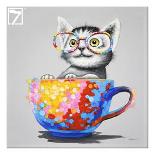 الجملة الطلاء القط قماش قماش ديكور