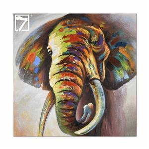 Håndlavet elefantmaleri væg kunst