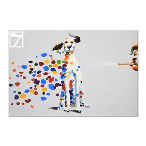 手作り犬動物アートベッドルームの壁写真