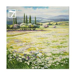 Landscape Canvas Wall Art Tuscan Flower Field