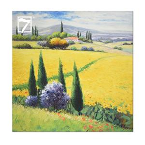 Yellow Tuscan Flower Field office wall art