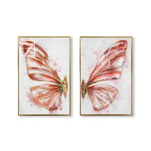Trendy Artwork Butterfly Oil Painting on Canvas