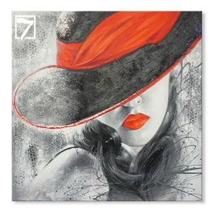 Handmade Figure Mysterious lady painting art
