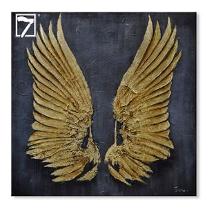 Animal Wing Painting with Gold Leaf