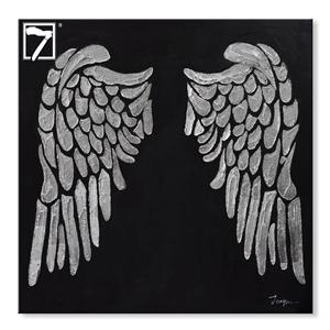 Angelic Wings Painting with Silver Foil