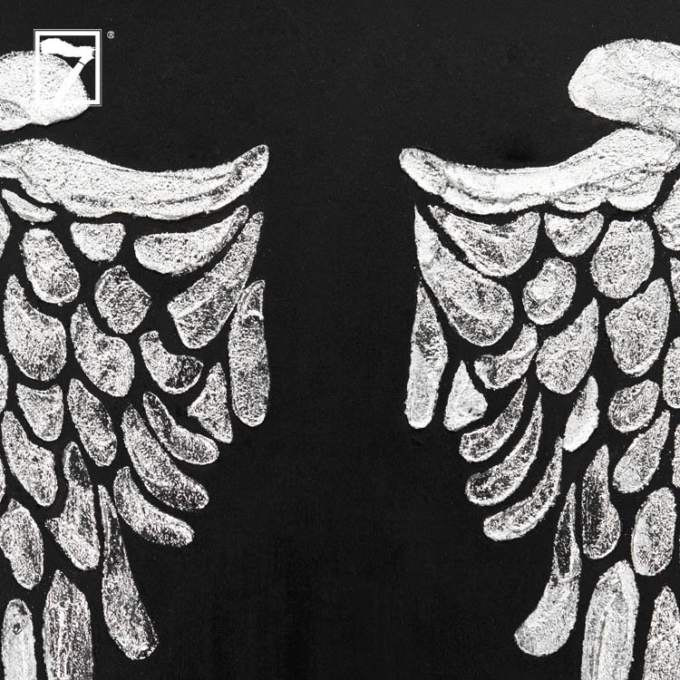 Angelic Wings Painting with Silver Foil Manufacturers, Angelic Wings Painting with Silver Foil Factory, Supply Angelic Wings Painting with Silver Foil
