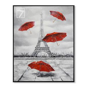 Scenery wall art Eiffel Tower and Red Umbrella