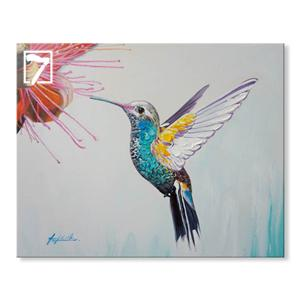 Oil Painting Hummingbird Modern Wall Art