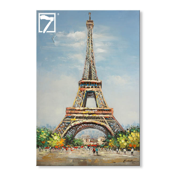 Landscape Oil Painting Eiffel Tower affordable art