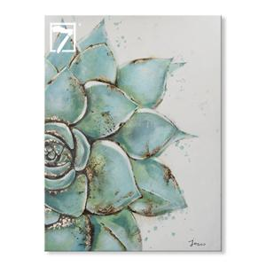 Håndlavede Succulents Plant Canvas Painting