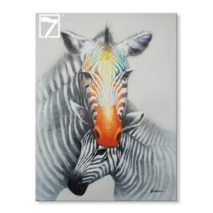 moderne væg indretning Zebra oliemaleri