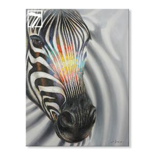Handmade Zebra Head canvas art for sale