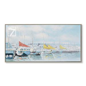 Sejlbåde dekorative kunst Oliemalerier