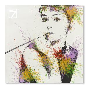 billigt maleri online Audrey Hepburn
