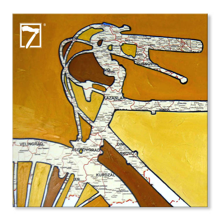 Moderne Kunst druckt Fahrradkarte
