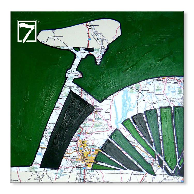 Artwork druckt Fahrradkarte