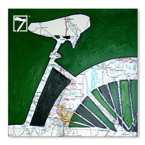 Artwork Prints Bicycle Map