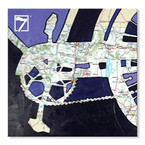 Fine Art Prints Bike Map
