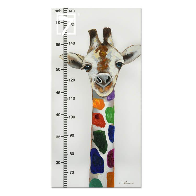 Giraffen-Wachstumstabelle für das Kinderzimmer