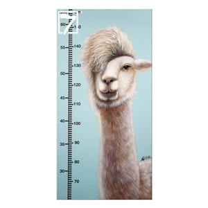 Alpaca Growth Chart Painting for Kids' Room