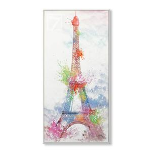 Modern Art Watercolor Eiffel Tower