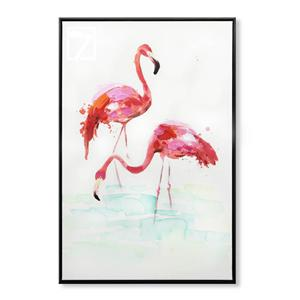 Flamingo da arte nórdica da parede