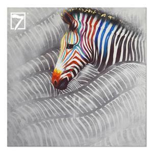 Zebras Running Arte Emoldurada
