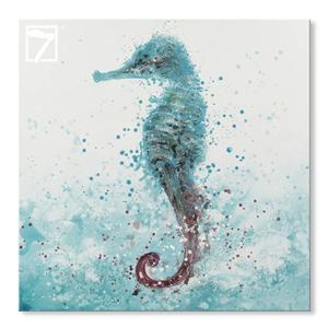 Arte da parede da lona cavalo-marinho