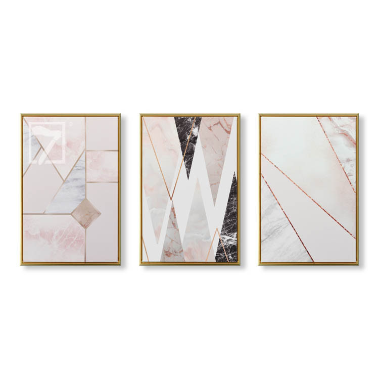 3 Pieces Geometric Abstract Art Prints