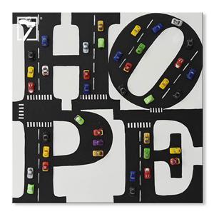 الإبداعية النفط الطلاء الفن سيارة أمل الجدار الديكور