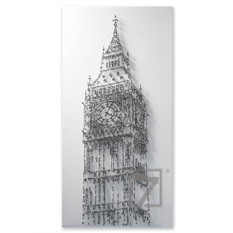 Modern London Big Ben Pins Art commercial painting