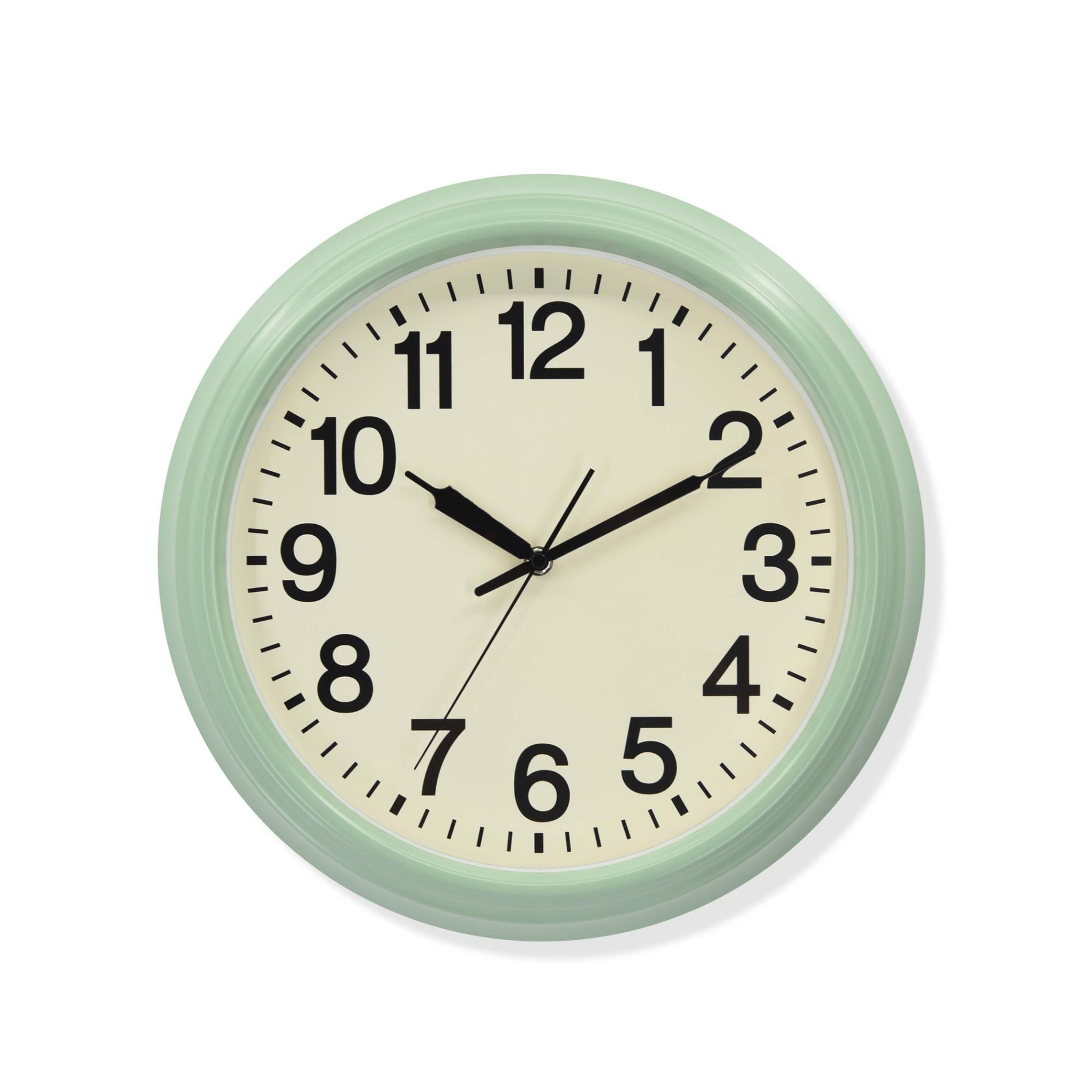 Vintage Green Metal Wall Clock