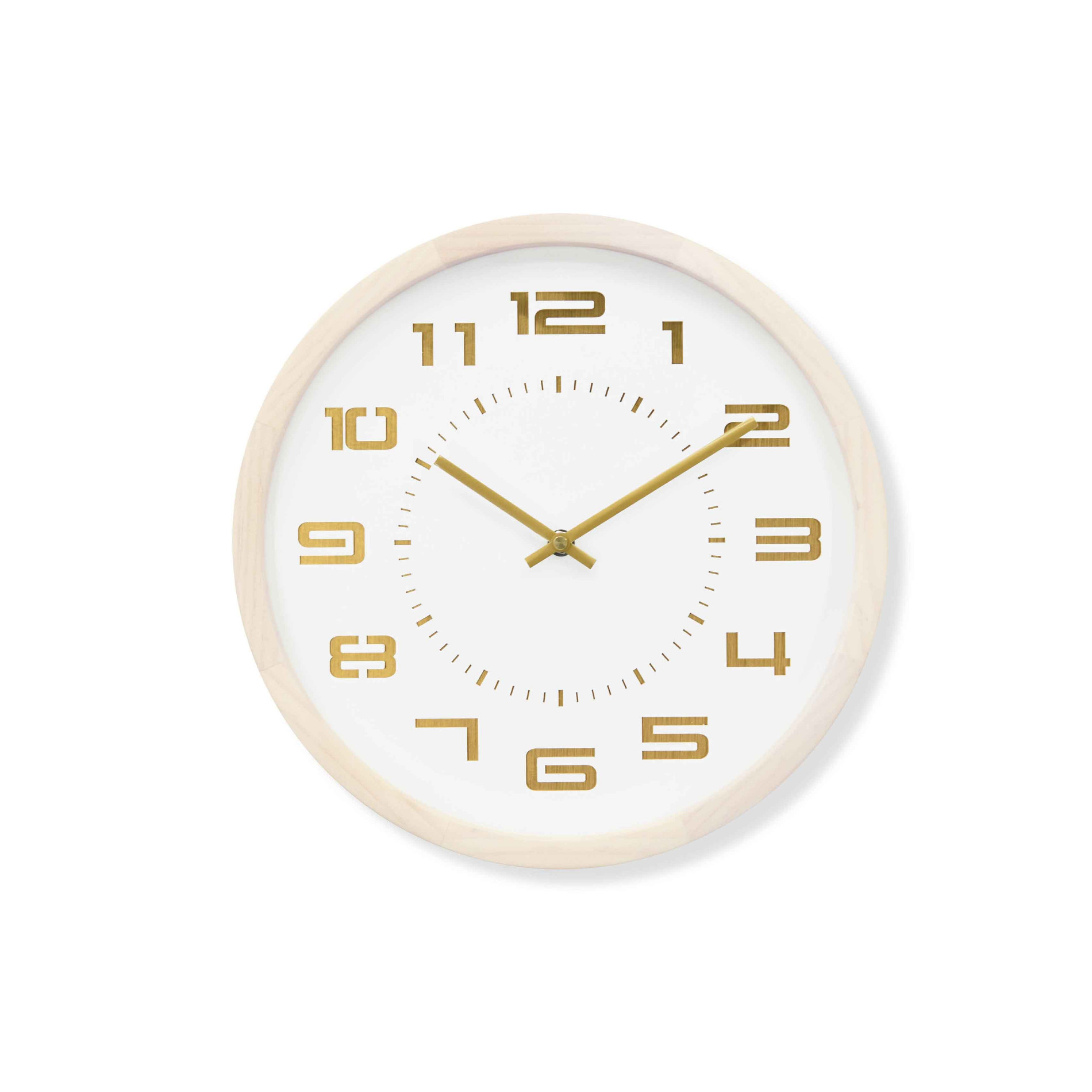 Nordic Trendy Style Solid Wood Wall Clock