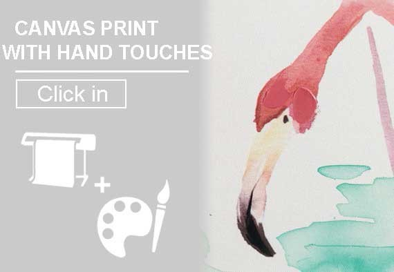 Canvas Tryck med Handtouches