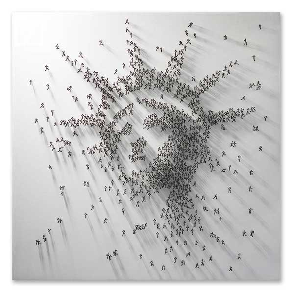 Pins Art Statue of Liberty Mixed Media Arts