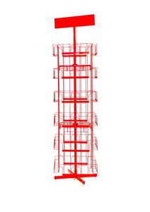 OEM metall store fixture K/D wire stand magzine and brochure rack