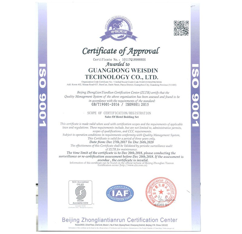 ISO9001 Certificate of Aprroval